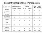 encuentros regionales participaci n