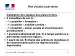 plan d action court terme