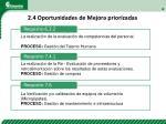 2 4 oportunidades de mejora priorizadas1