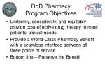 dod pharmacy program objectives