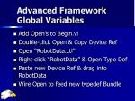 advanced framework global variables