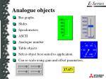 analogue objects