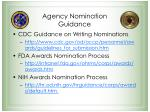 agency nomination guidance