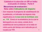 calidad en la atenci n en sr en india evaluando el estatus parte ii3