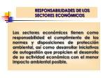 responsabilidades de los sectores econ micos