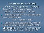 teorema de cantor para todo conjunto a a p a