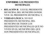 universo los presidentes municipales