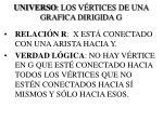 universo los v rtices de una grafica dirigida g