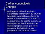 cadres conceptuels charges