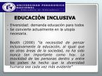 educaci n inclusiva