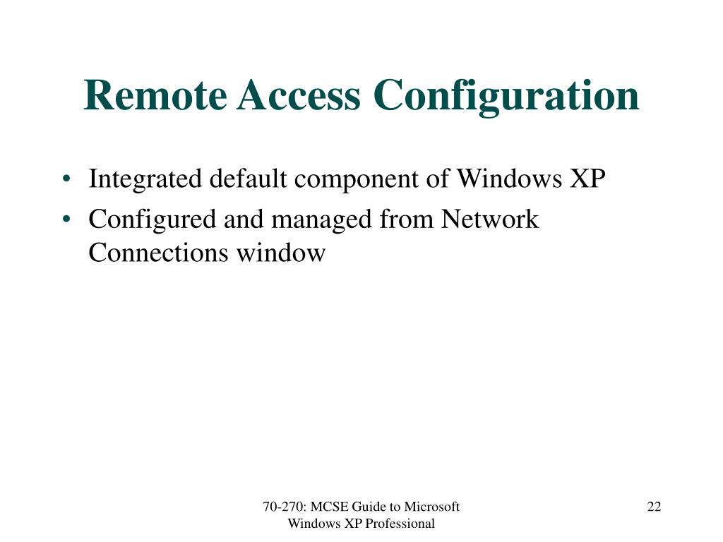 Remote Access Configuration