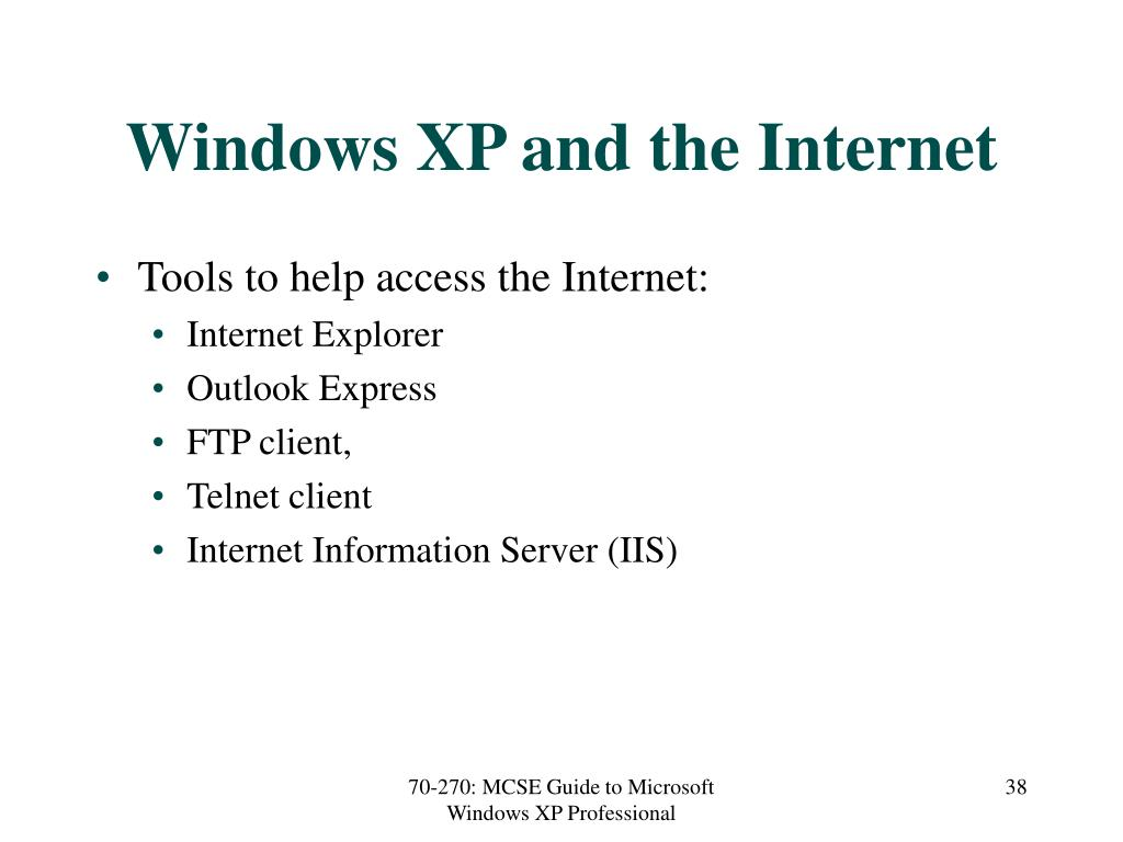 Windows XP and the Internet