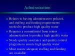 adminstration