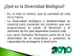 qu es la diversidad biol gica