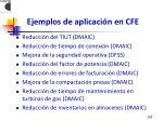 ejemplos de aplicaci n en cfe