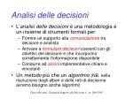 analisi delle decisioni