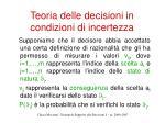 teoria delle decisioni in condizioni di incertezza