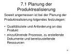 7 1 planung der produktrealisierung1