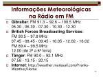 informa es meteorol gicas na r dio em fm