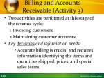 billing and accounts receivable activity 3