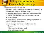billing and accounts receivable activity 31