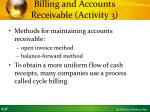 billing and accounts receivable activity 33