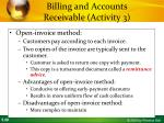 billing and accounts receivable activity 34
