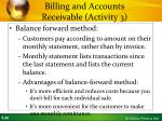 billing and accounts receivable activity 35