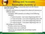 billing and accounts receivable activity 36