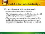cash collections activity 41