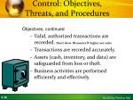 control objectives threats and procedures1