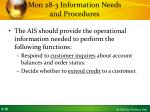 mon 28 3 information needs and procedures