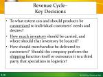 revenue cycle key decisions1