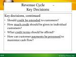 revenue cycle key decisions2