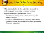 tue 30 3 sales order entry activity 1