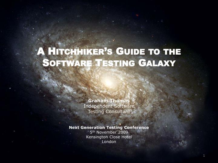 a hitchhiker s guide to the software testing galaxy n.