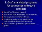 1 gov t mandated programs for businesses with gov t contracts