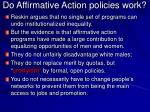 do affirmative action policies work