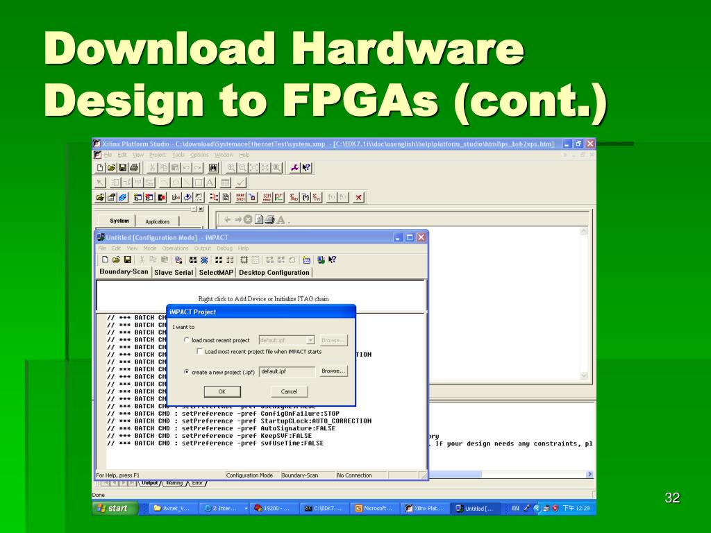 Download Hardware Design to FPGAs (cont.)