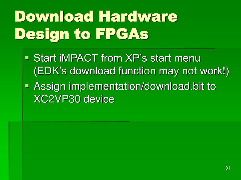 Download Hardware Design to FPGAs