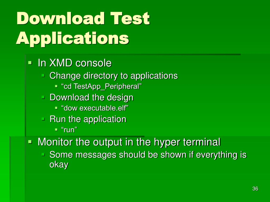 Download Test Applications