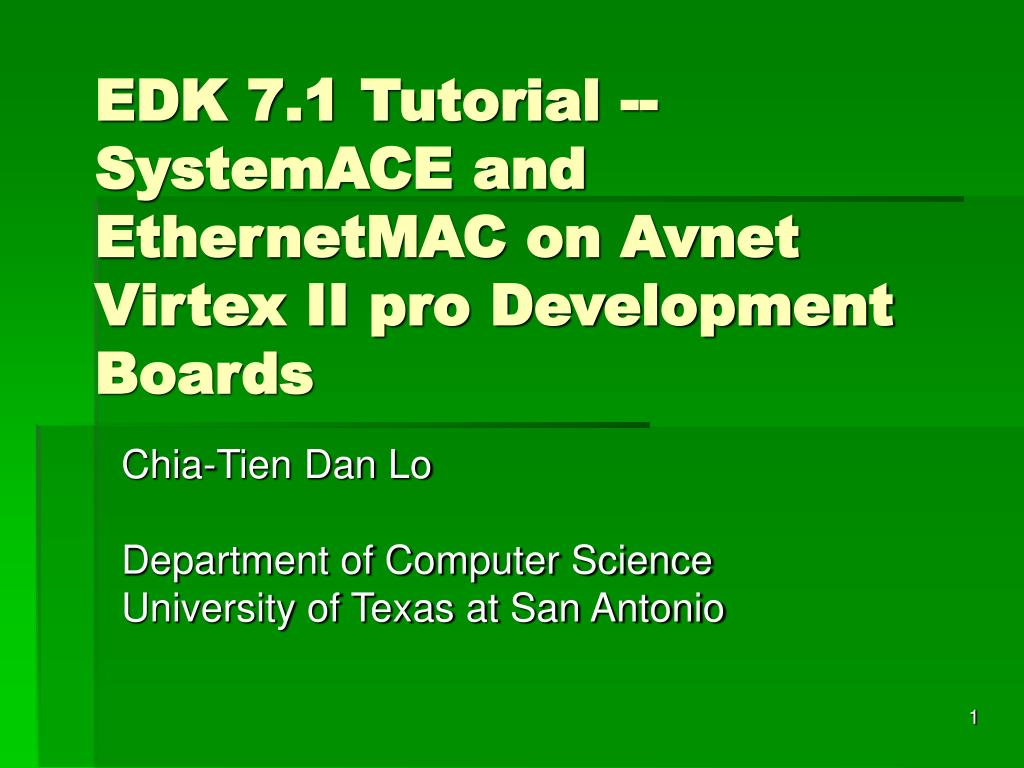 edk 7 1 tutorial systemace and ethernetmac on avnet virtex ii pro development boards l.