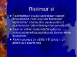 riskimatriisi