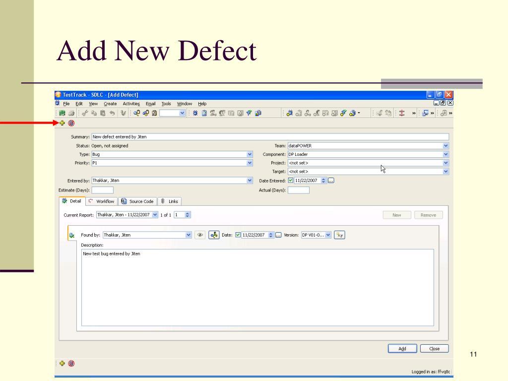 Add New Defect