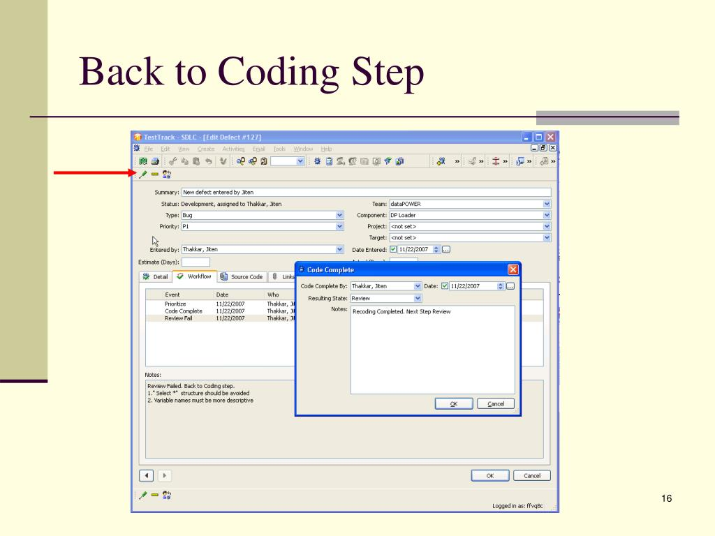Back to Coding Step