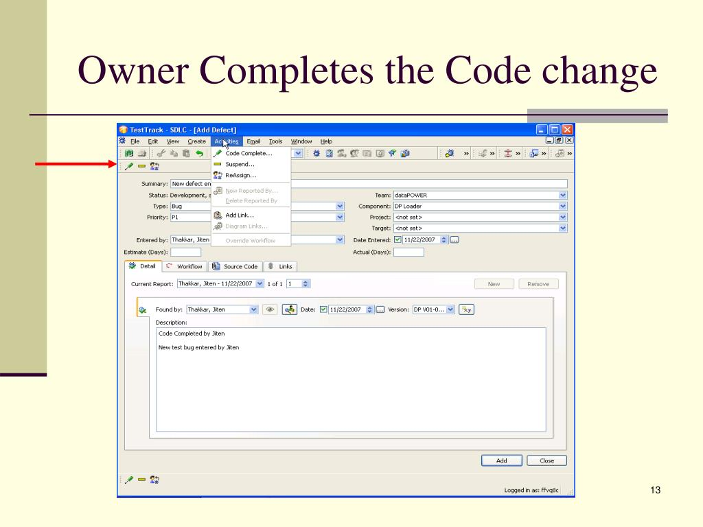 Owner Completes the Code change