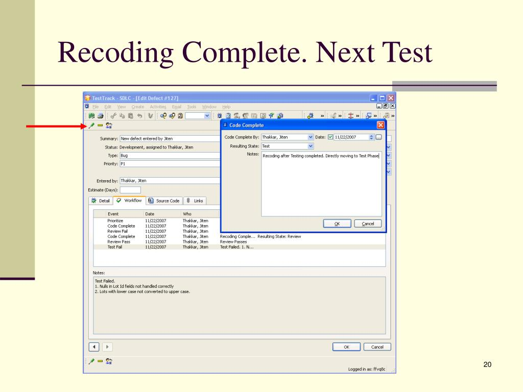 Recoding Complete. Next Test