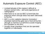 automatic exposure control aec