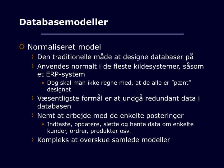 Databasemodeller