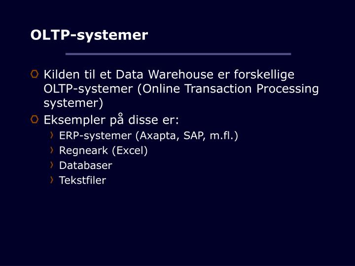 OLTP-systemer